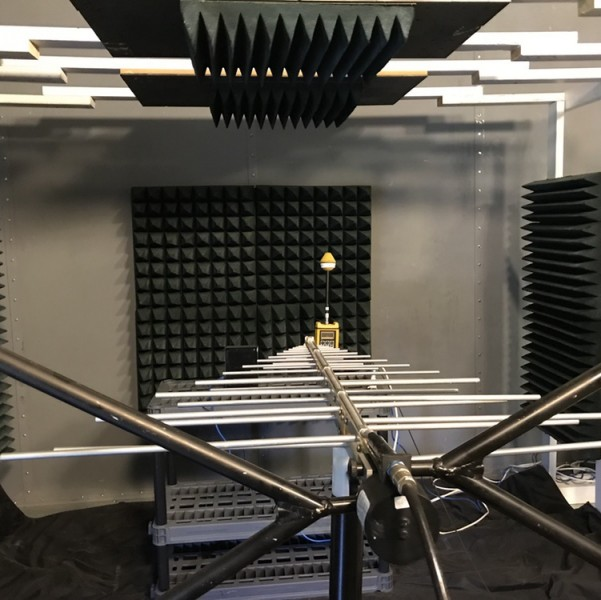A photo of an instrument used for EMC and EMI testing at the GM Electromagnetic Vermont lab